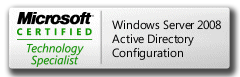 MCTS 70-640 Microsoft Certified Technology Specialist Windows Server 2008 Active Directory, Configuring